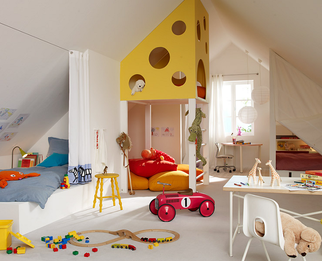 детская комната деление на зоны