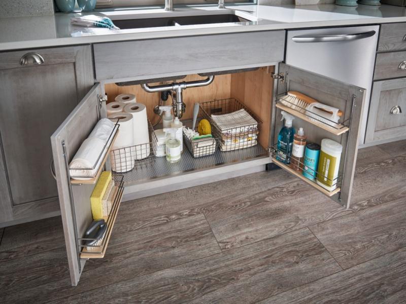 используем пространство на кухне под раковиной