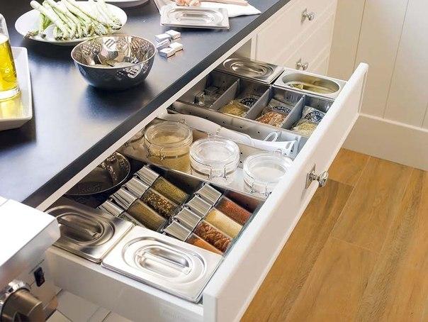 Место хранение специй на кухне