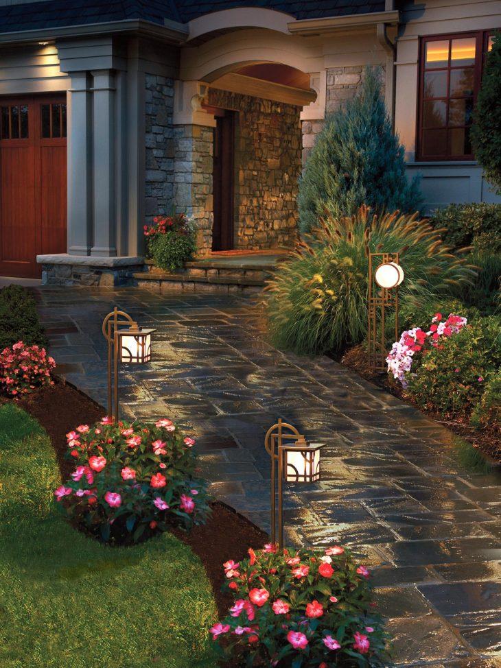 Варианты освещения садового участка