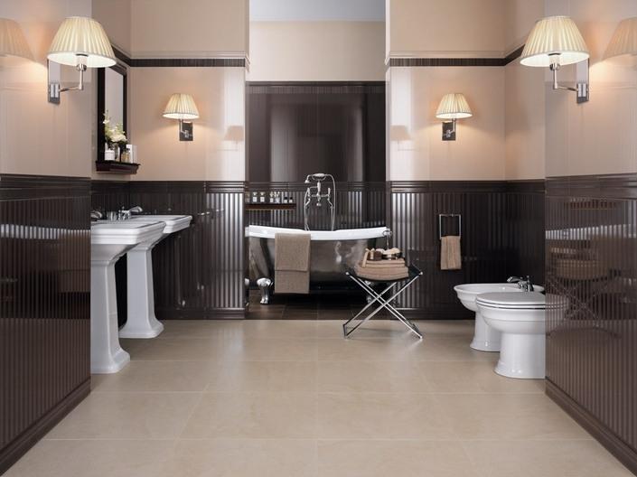 Керамическая плитка в интерьере ванной Стиль Лофт