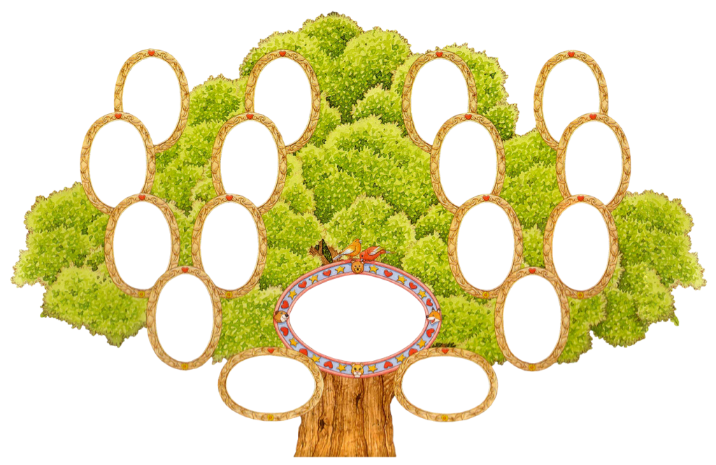 Генеалогическое древо семьи шаблон